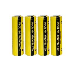 1.2v NiCd AA Battery Rechargeable 1000mAh for Solar LED Ligh