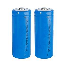 50 Lot 26650 5000mAh 3.7-4.2V Rechargeable Li-lithium Flashl