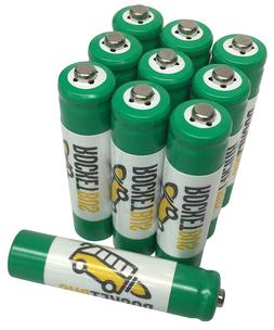 10 AAA Tripple A NiMH Rechargeable Batteries for Garden Sola