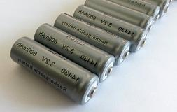 10-Pack Solar 3.2 V 600 mAh 14430 Lithium Ion  Battery for S