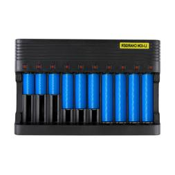 10 slot smart battery charger universal rechargeable