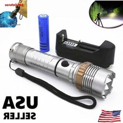 100000LM LED Rechargeable Flashlight Tactical High Power Tor
