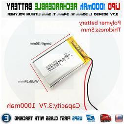 1000mAh 3.7V lipo rechargeable Battery 503450 polymer lithiu