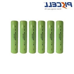 10pcs NiMH AA Rechargeable Batteries 2000mAh 1.2V Flat Top P