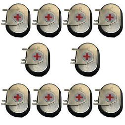 10x 1.2V 3-PIN NiMH Button Cell Batteries RTC-Backup Memory