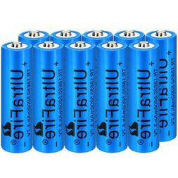 10x 18650 Battery Lot High-mAh Li-ion Rechargeable Battery F