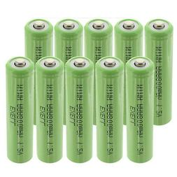 10x Exell 1.2V NIMH AAA 800mAh Rechargeable Button Top Batte