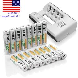 1100mAh AAA Rechargeable Battery + USB Charger For AAA AA Ni