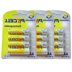 12 AA Rechargeable Camera Batteries1300mAh NiMh 1.2V 2A Flas