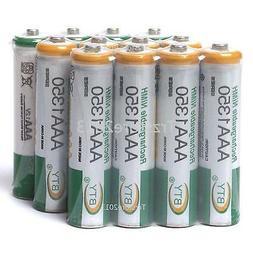 12 PCS 3A AAA Size 1350mAh Ni-MH Rechargeable Batteries Batt