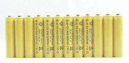 12 pcs Rechargeable NiCd AAA 600mAh Ni-Cad Batteries for Sol