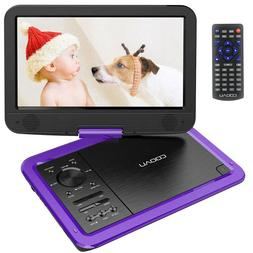 "12"" Portable CD/DVD Player HD Widescreen Display Built-in Re"