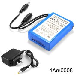 12V 3000mAh Li-ion Rechargeable Battery Pack Electronic Equi