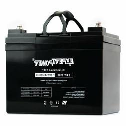 ExpertPower 12V 33Ah Rechargeable AGM SLA Battery  Replaces