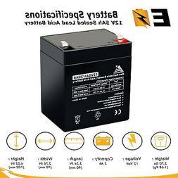 12V 5AH Sealed Lead Acid Battery for Alarm System, Home Secu