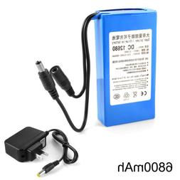 12V 6800mAh Li-ion Rechargeable Battery Pack Electronic Equi