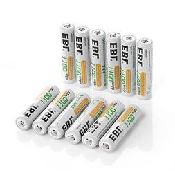 12x EBL 1.2V 1100mAh AAA Rechargeable Batteries R03 Ni-MH Ba