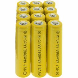 12x AA battery batteries Bulk Nickel Cadmium 2A Rechargeable