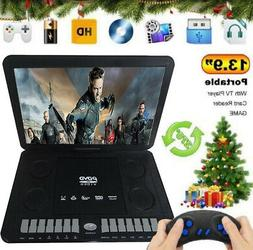 "13.9"" Portable CD/DVD Player HD Widescreen Display Built-in"