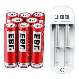 EBL 14500 Battery 3.7V 800mAh Li-ion Rechargeable Batteries