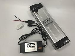 48V 15AH 18650 Li-ion Battery Aluminum Case BMS 3A Charger R