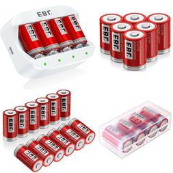 EBL16340 750mAh RCR123A Li-ion Rechargable Batteries / 4 Slo