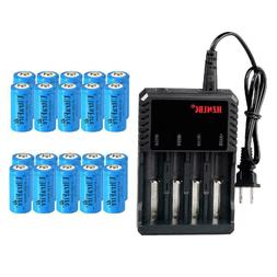 16340 Battery 1800mAh CR123A Rechargeable 3.7V Li-ion Batter