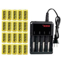 ETSAIR 16340 Battery 2800mAh CR123A Rechargeable 3.7V Li-ion