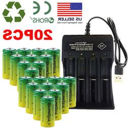 16340 CR123A Battery 1800mAh 3.7V Rechargeable Batteries Cel