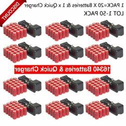 16340 Flashlight CR123A 3.7 Volt Lithium Rechargeable Batter