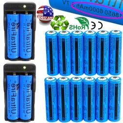 16PC Ultrafire 18650 6000mAh 3.7Volt Rechargeable Batteries