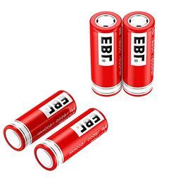 EBL 18500 Li-ion Rechargeable Battery 3.7V 1600mAh for LED F