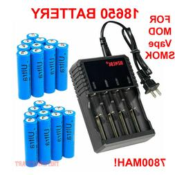 18650 Battery 3.7V 7900mAh Li-ion Rechargeable Batteries for