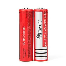 ULTRAFIRE 18650 Battery 3.7V Rechargeable Battery 2600mAh Li