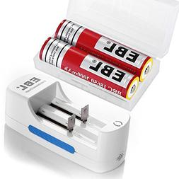 EBL 18650 Protected Rechargeable Batteries  with Smart Lithi