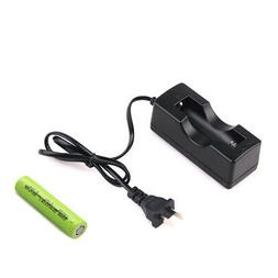 18650 Rechargeable Lithium Battery & Single Slot Charger for