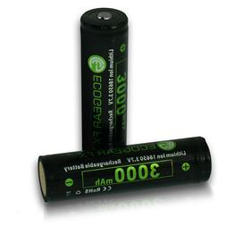 18650 Rechargeable Lithium-ion Batteries 3000mAh Button Top