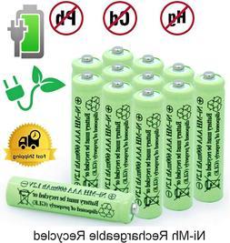 2-16Pcs Rechargeable AAA Batteries Ni-MH 600mAh Battery & Ge