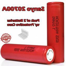 2 Sanyo 20700A 3200mAh 30A Rechargeable Lithium Ion Li-ion I