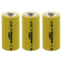 Exell 2/3AA 1.2V 400mAh NiCD Button Top Rechargeable Batter