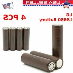 2/4Pcs Rechargeable 3000mAh LG HG2 18650 HIGH DRAIN Lithium