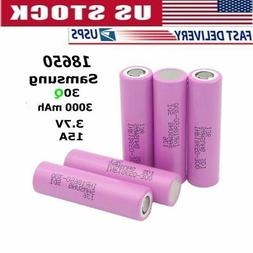 2/4pcs Samsung 30Q 3000mAh Rechargeable18650 3.7V 15A High D