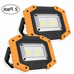 OTYTY 2 COB 30W 1500LM LED Work Light, Rechargeable Portable