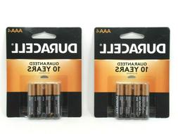 Duracell Coppertop AAA Batteries 4 Count Each 8 Total Dated