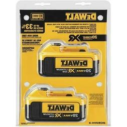 2 New DEWALT DCB204-2 20v 20 Volt 4.0 AH Li-Ion Battery Pack