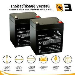 2 pack 12v 4 5ah rechargeable battery