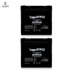 2 Pack - ExpertPower - 12V 50Ah 55Ah Rechargeable AGM Sealed