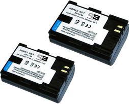 2-Pack LP-E6 LP-E6N Battery for Canon EOS 70D 60D 80D 5D 6D