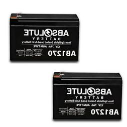 2 PACK 12V 7AH 12 Volt 7 Amp Hour Rechargeable Battery with