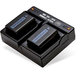 2-Pack Of NP-FW50 Batteries & Dual Battery Charger for SonyD